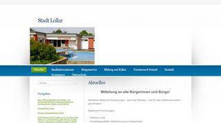 Screenshot: Homepage Stadt Lollar