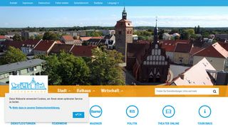 Screenshot: Homepage Stadt Luckenwalde