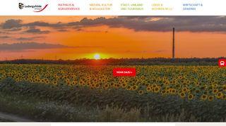 Screenshot: Homepage Stadt Ludwigsfelde