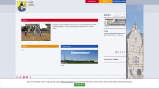 Screenshot: Homepage Stadt Lützen