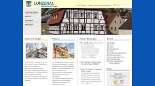 Screenshot: Homepage Stadt Lunzenau