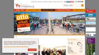 Screenshot: Homepage Landeshauptstadt Magdeburg