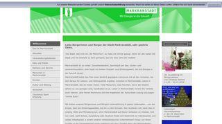 Screenshot: Homepage Stadt Markranstädt