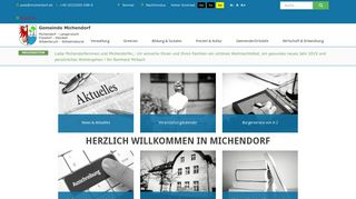 Screenshot: Homepage Gemeinde Michendorf