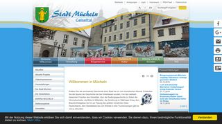 Screenshot: Homepage Stadt Mücheln