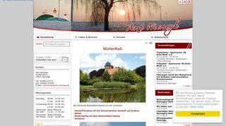 Screenshot: Homepage Gemeinde Mühlenfließ