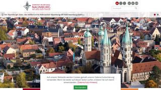 Screenshot: Homepage Stadt Naumburg