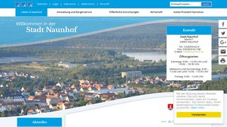 Screenshot: Homepage Stadt Naunhof