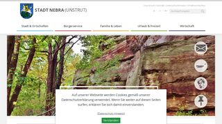 Screenshot: Homepage Stadt Nebra