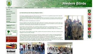 Screenshot: Homepage Gemeinde Niedere Börde