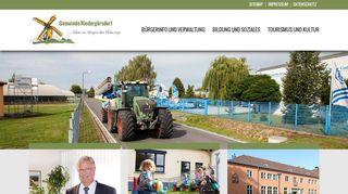 Screenshot: Homepage Gemeinde Niedergörsdorf