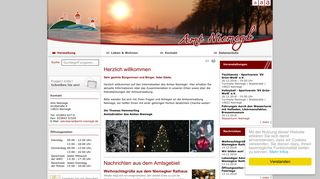 Screenshot: Homepage Stadt Niemegk