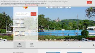 Screenshot: Homepage Gemeinde Nordstemmen