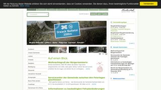 Screenshot: Homepage Gemeinde Nuthetal