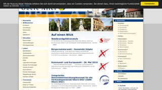 Screenshot: Homepage Verbandsgemeinde Obere Aller