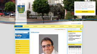 Screenshot: Homepage Stadt Oebisfelde-Weferlingen