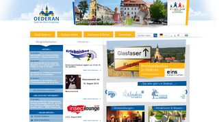 Screenshot: Homepage Stadt Oederan
