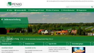 Screenshot: Homepage Stadt Penig