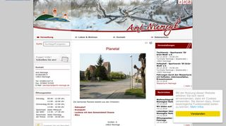 Screenshot: Homepage Gemeinde Planetal