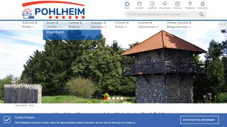 Screenshot: Homepage Stadt Pohlheim