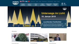 Screenshot: Homepage Stadt Potsdam