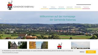Screenshot: Homepage Gemeinde Rabenau