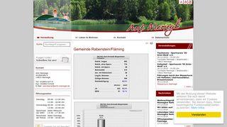 Screenshot: Homepage Gemeinde Rabenstein