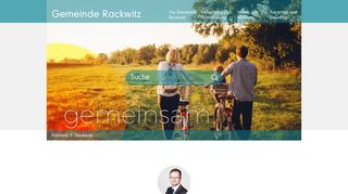 Screenshot: Homepage Gemeinde Rackwitz