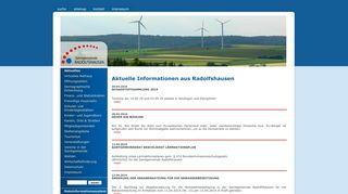 Screenshot: Homepage Samtgemeinde Radolfshausen
