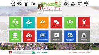 Screenshot: Homepage Gemeinde Reiskirchen