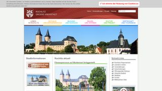 Screenshot: Homepage Stadt Rochlitz