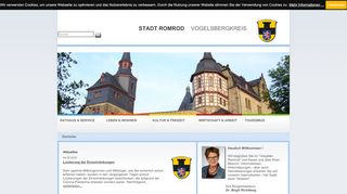 Screenshot: Homepage Stadt Romrod