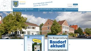 Screenshot: Homepage Gemeinde Rosdorf