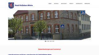 Screenshot: Homepage Stadt Roßleben-Wiehe