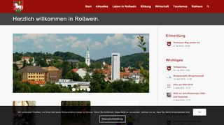 Screenshot: Homepage Stadt Roßwein