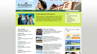 Screenshot: Homepage Stadt Salzgitter
