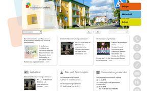 Screenshot: Homepage Stadt Sandersdorf-Brehna
