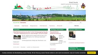 Screenshot: Homepage Stadt Sayda