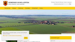 Screenshot: Homepage Gemeinde Schellerten