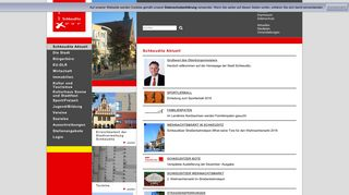 Screenshot: Homepage Stadt Schkeuditz
