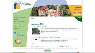 Screenshot: Homepage Gemeinde Schkopau