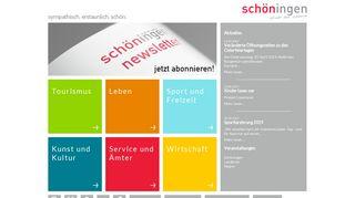 Screenshot: Homepage Stadt Schöningen