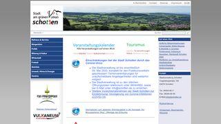 Screenshot: Homepage Stadt Schotten