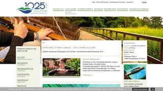 Screenshot: Homepage Gemeinde Schwielowsee