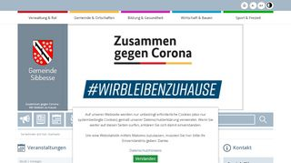 Screenshot: Homepage Gemeinde Sibbesse