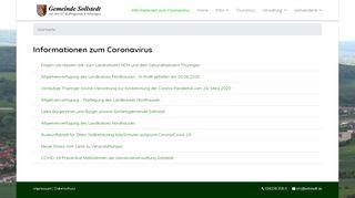 Screenshot: Homepage Gemeinde Sollstedt