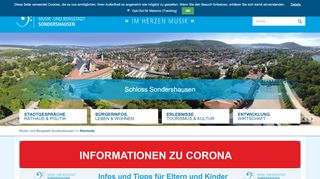 Screenshot: Homepage Stadt Sondershausen
