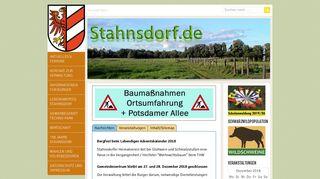 Screenshot: Homepage Gemeinde Stahnsdorf