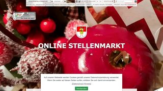 Screenshot: Homepage Stadt Staßfurt