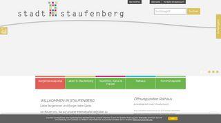 Screenshot: Homepage Stadt Staufenberg